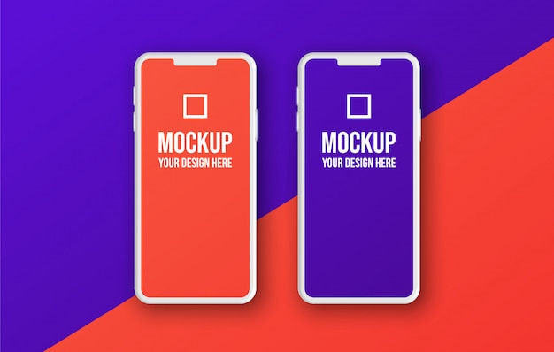 クレイレンダリングスマートフォンアプリの開発とux / uiテンプレート