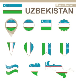 우즈베키스탄 국기 수집, 12개 버전