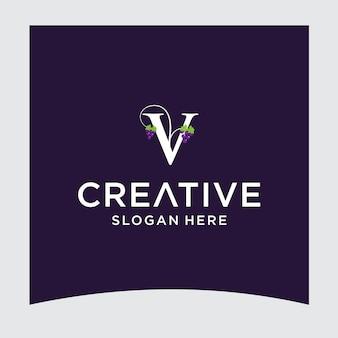 Vブドウのロゴデザイン
