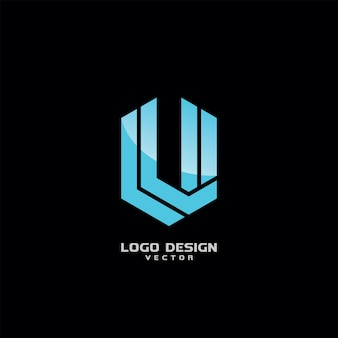 V Icon Logo Design Vector