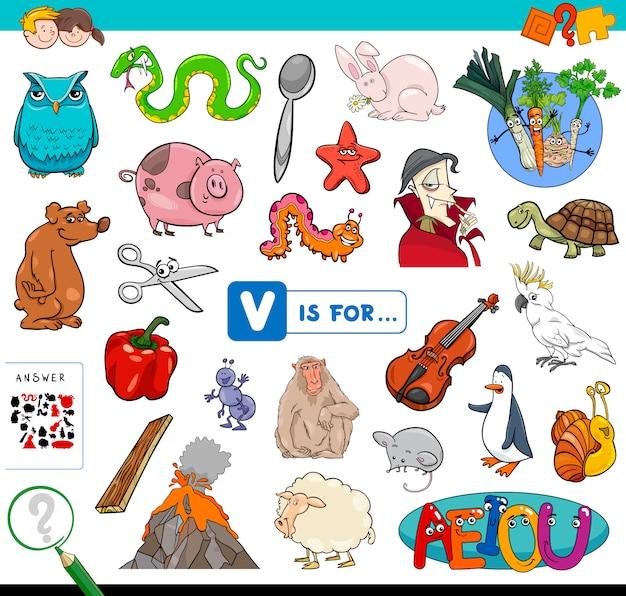 V is for educational game for children