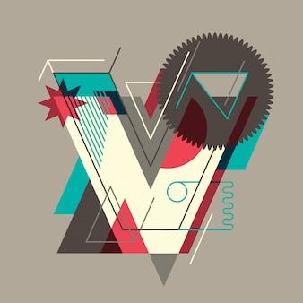 V letter design