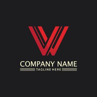 V letter logo template vector icon illustration