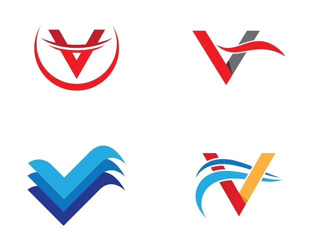 V letter symbol illustration design
