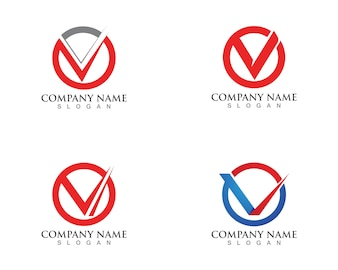 V letters business logos and symbols template