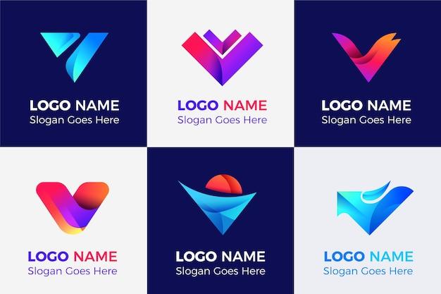 V logo collection Free Vector