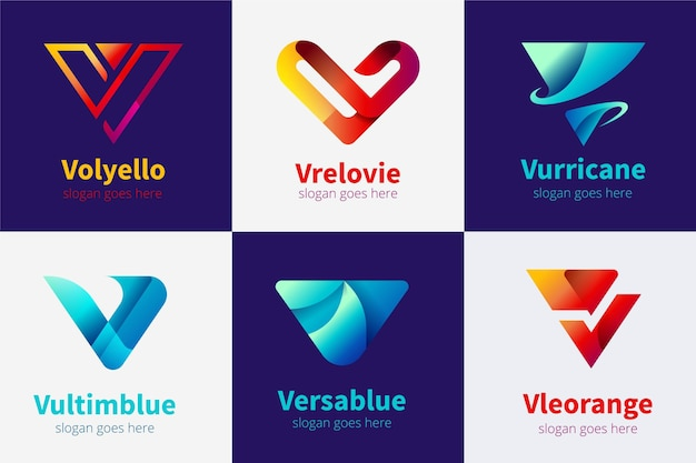 V logo collection