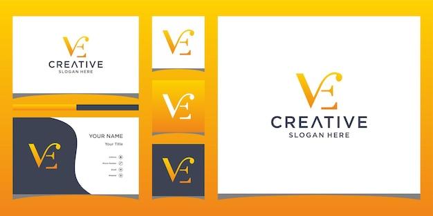 명함 서식 파일이 있는 v 로고 디자인