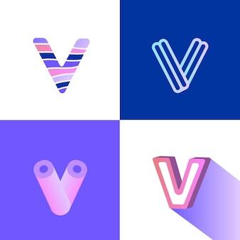 V 로고 세트