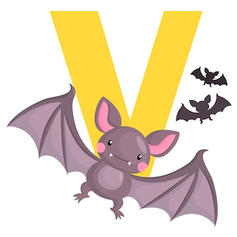 V for vampire bat