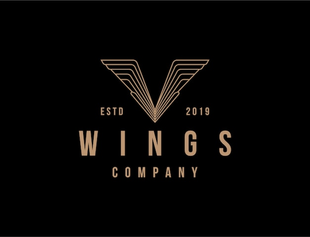V wing vintage logo