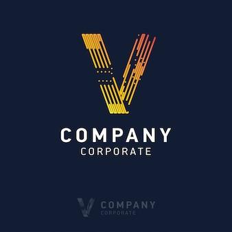 V дизайн логотипа компании