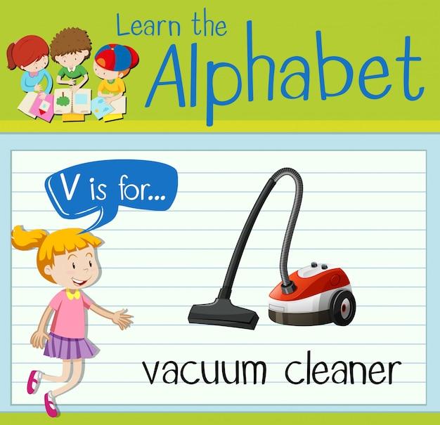 フラッシュカード文字vは掃除機用です