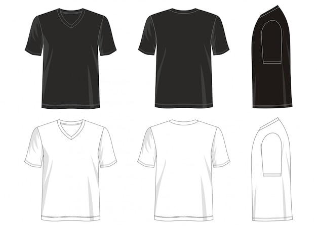 Шаблон футболка с v-образным вырезом