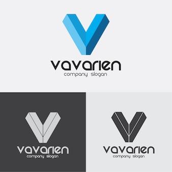 V文字のロゴ