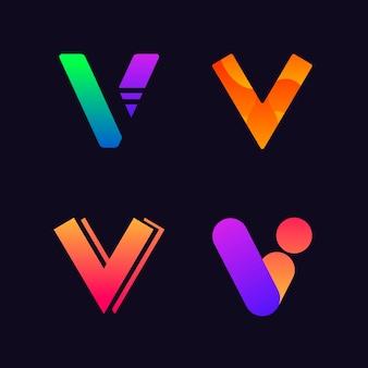 V коллекция логотипов