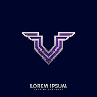 手紙v翼コンセプトデザインイラストベクトルテンプレート