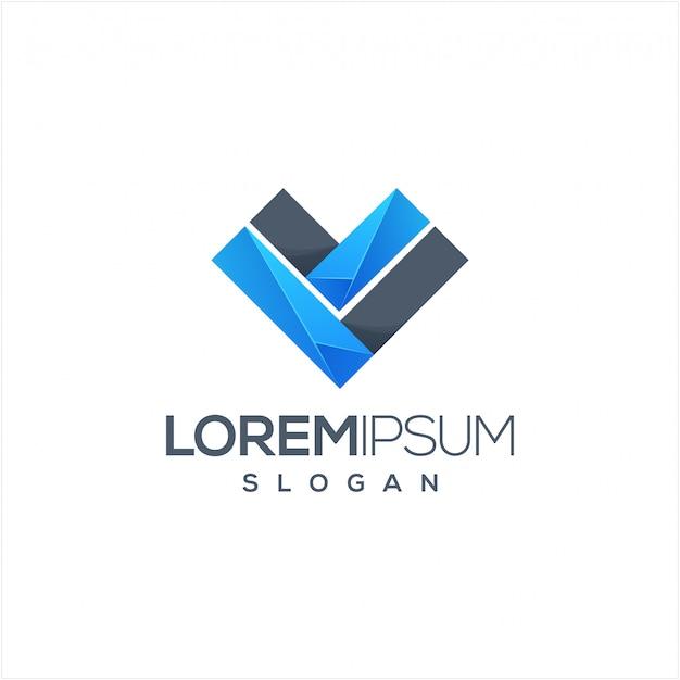 文字vのロゴデザイン