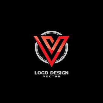 Vレターロゴデザインベクター