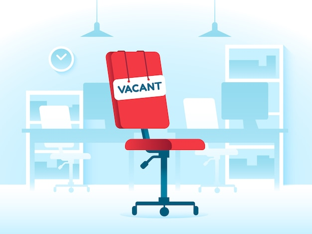 Vacant position teamwork job in creative office.