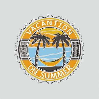 Vacantion на летней иллюстрации