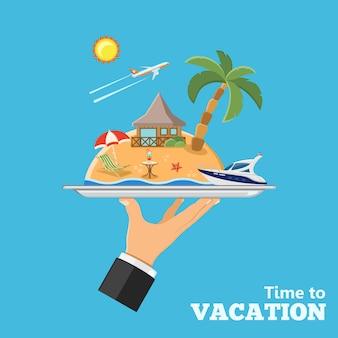 休暇と旅行のコンセプト