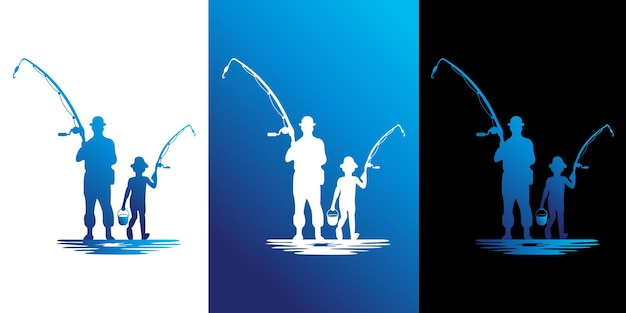 Vacation fishing design logo