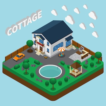 Vacation home isometric