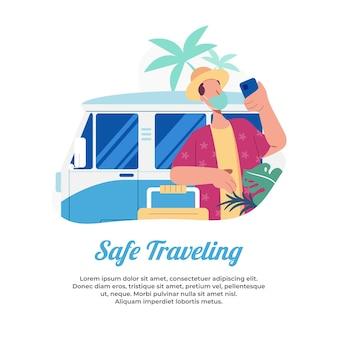 전염병의 여름에 안전하게 휴가를 보내고 건강을 유지하십시오