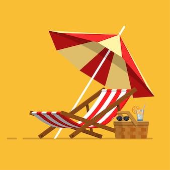 Отпуск путешествия отпуск пляжный зонт пляжный стул