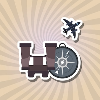 Vacations icon design