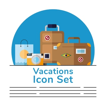 Набор иконок отпуск