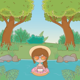 Vacanze e tempo all'aperto estivo