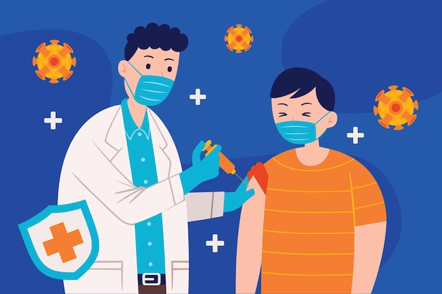 Vaccination of adults abstract concept   illustration.