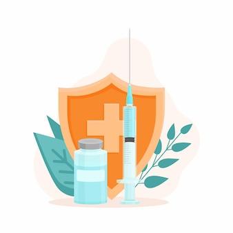 예방 접종 개념 예방 접종 캠페인 예방 접종 예방 접종 건강 관리 및 보호