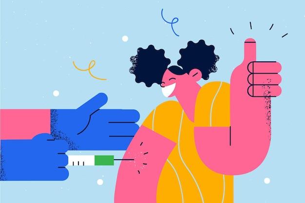 予防接種のヘルスケアと医学の概念