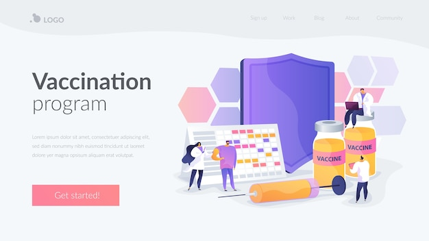 Vaccination program landing page template