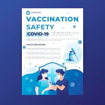 Modello di volantino sulla sicurezza della vaccinazione Vettore gratuito