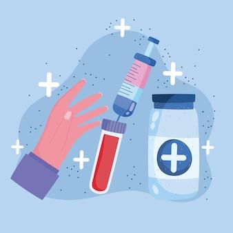 Шприц для вакцинации Premium векторы