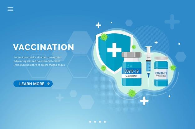 예방 접종 방문 페이지 템플릿에 대한 백신 배경