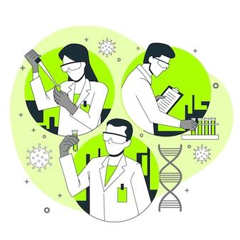 Vaccine development concept illustration