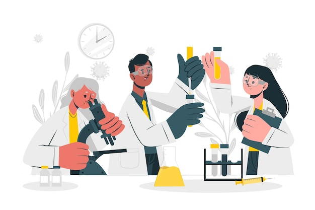 Illustrazione del concetto di sviluppo del vaccino