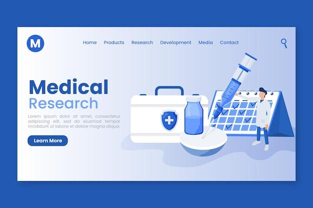 Pagina di destinazione per lo sviluppo del vaccino