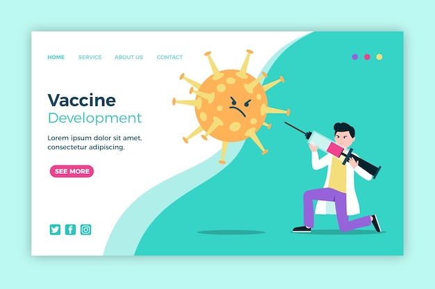 Vaccine development landing page