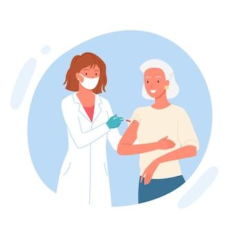 Вакцина пожилого пациента.