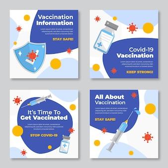 백신 인스 타 그램 게시물 수집 무료 벡터