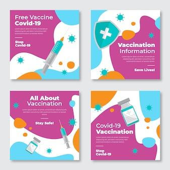 Raccolta di post di instagram di vaccino