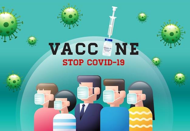 Vaccine, stop covid-19, coronavirus ,face mask, social distancing, group immunity.