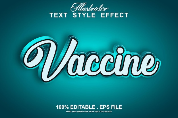 Текстовый эффект вакцины редактируемый