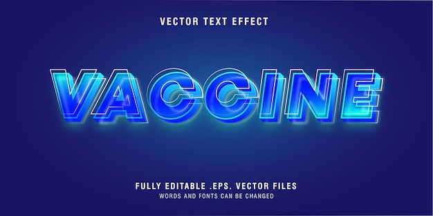 Vaccine text style effect